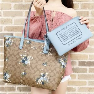 Coach 2 in 1 large floral tote